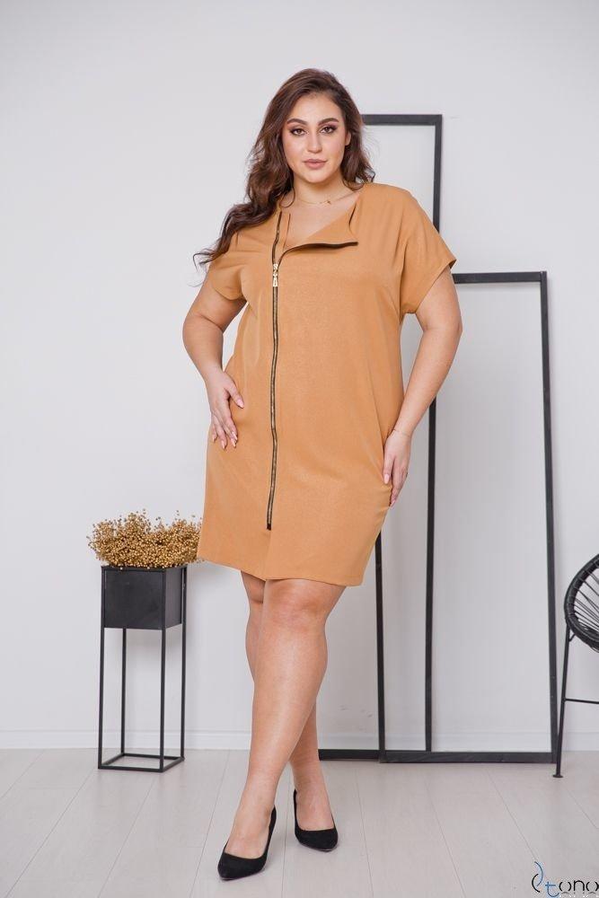 Camelowa Sukienka TURRER Plus Size