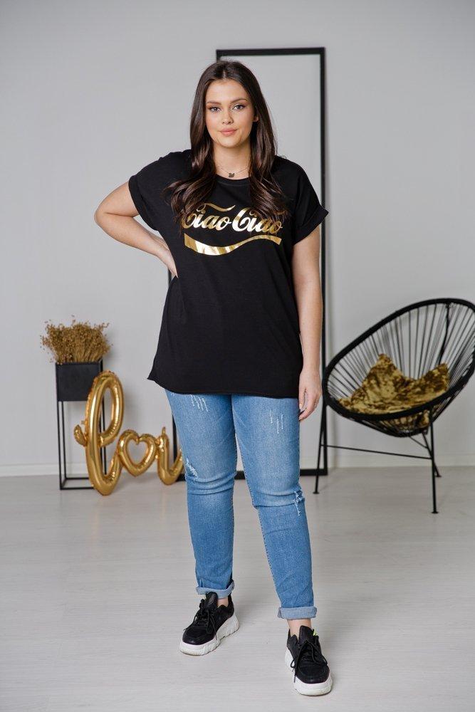 Czarna Bluzka CIAO Plus Size