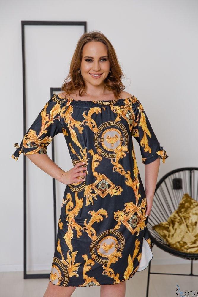 Czarna Sukienka VIRTU Plus Size