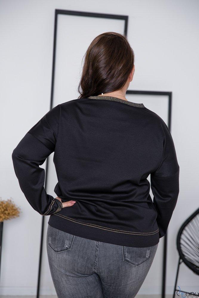 Czarno-Złota Bluza VISION Plus Size