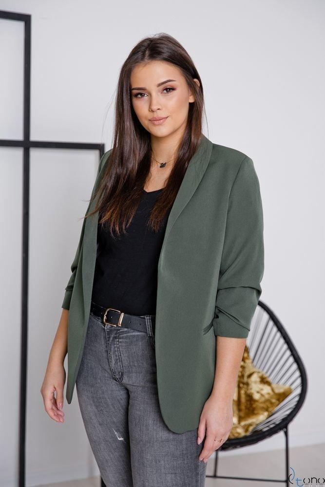 Marynarka Khaki RONNIE Plus Size