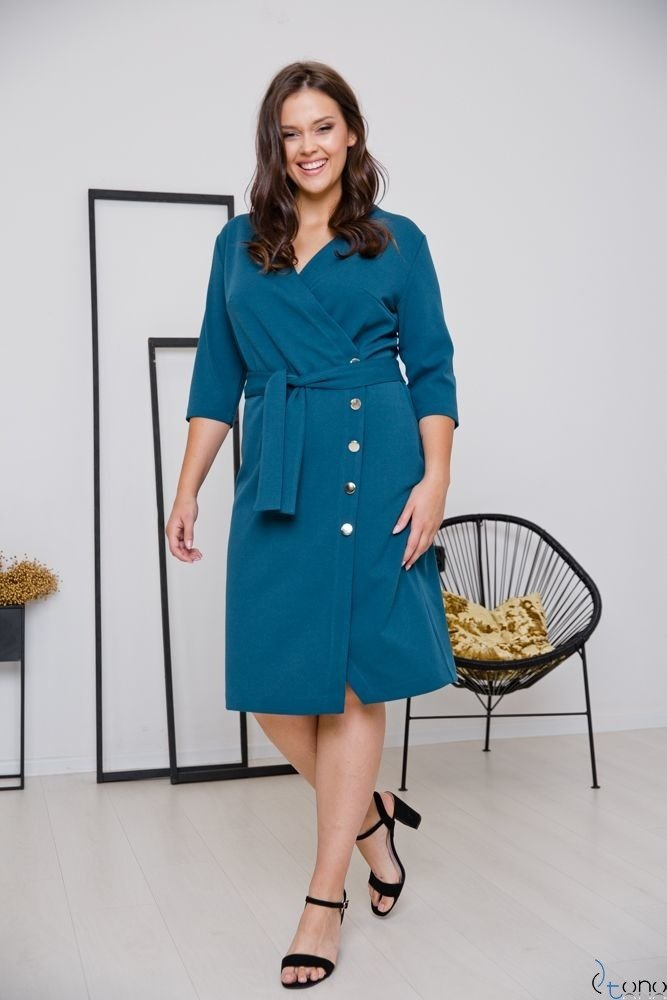 Morska Sukienka MATICA Plus Size