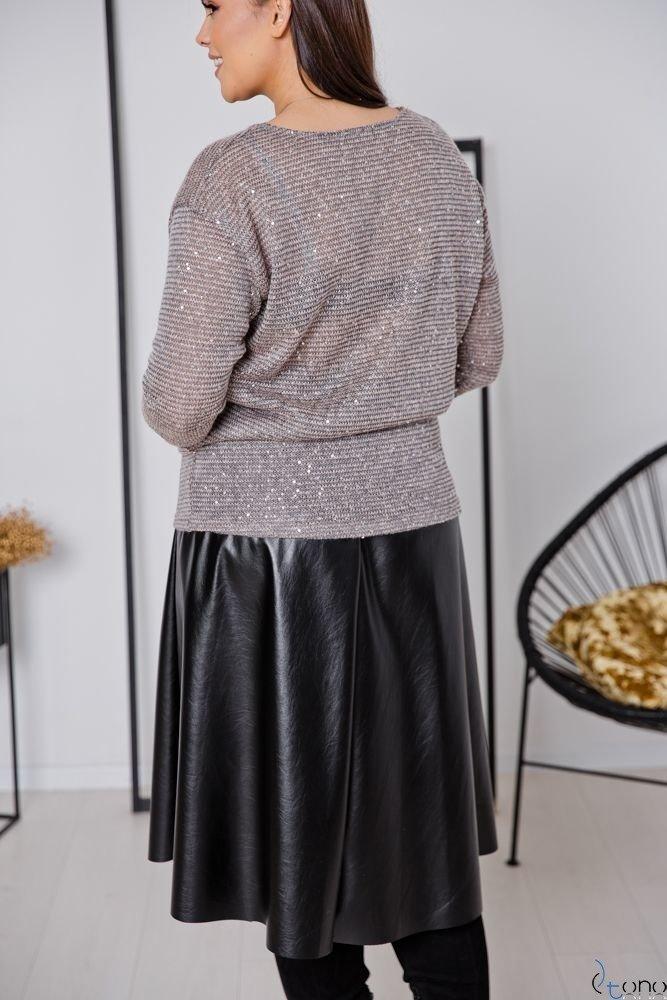 Różowo-Szara Bluzka DONIA Plus Size