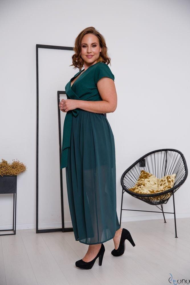 Zielona Sukienka MALIKKA Plus Size