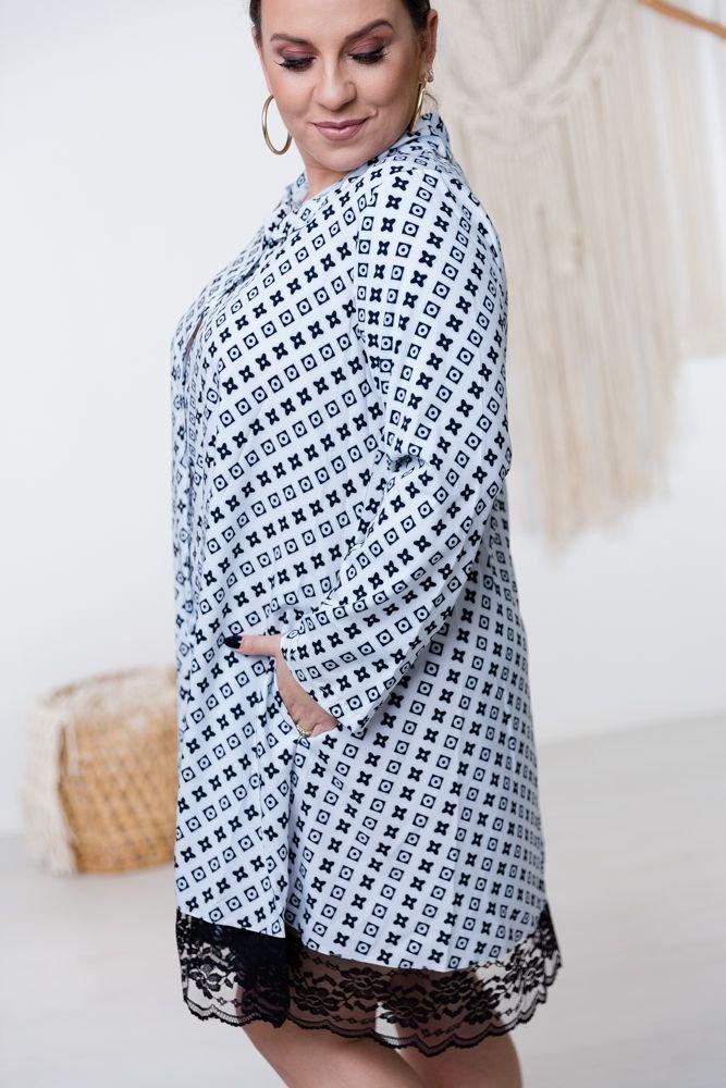 Biało-czarna Sukienka MATAHARI