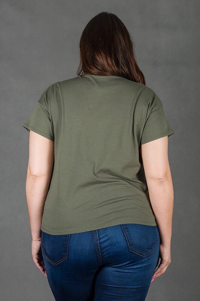 Bluzka OWL Khaki T-shirt Sowa