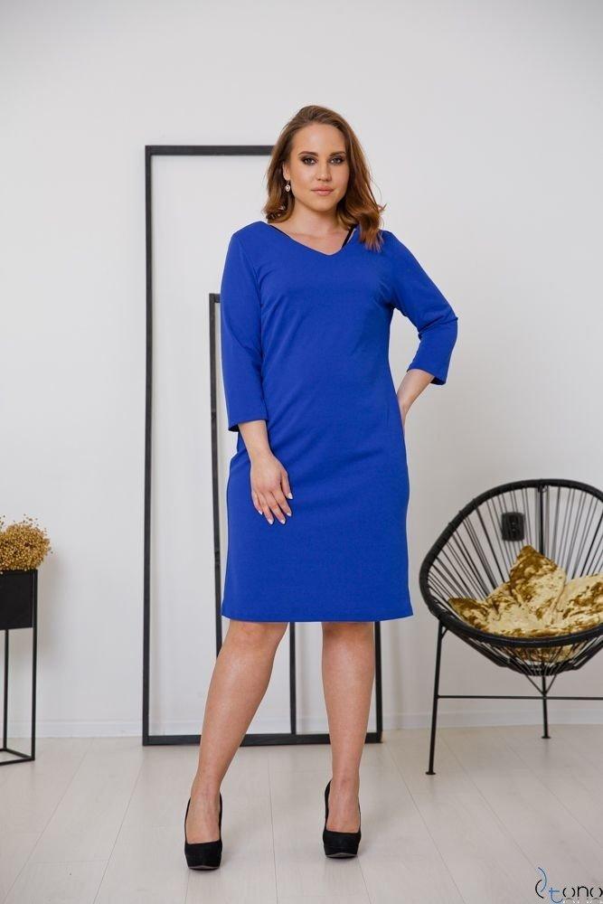 Chabrowa Sukienka EMYLY Plus Size