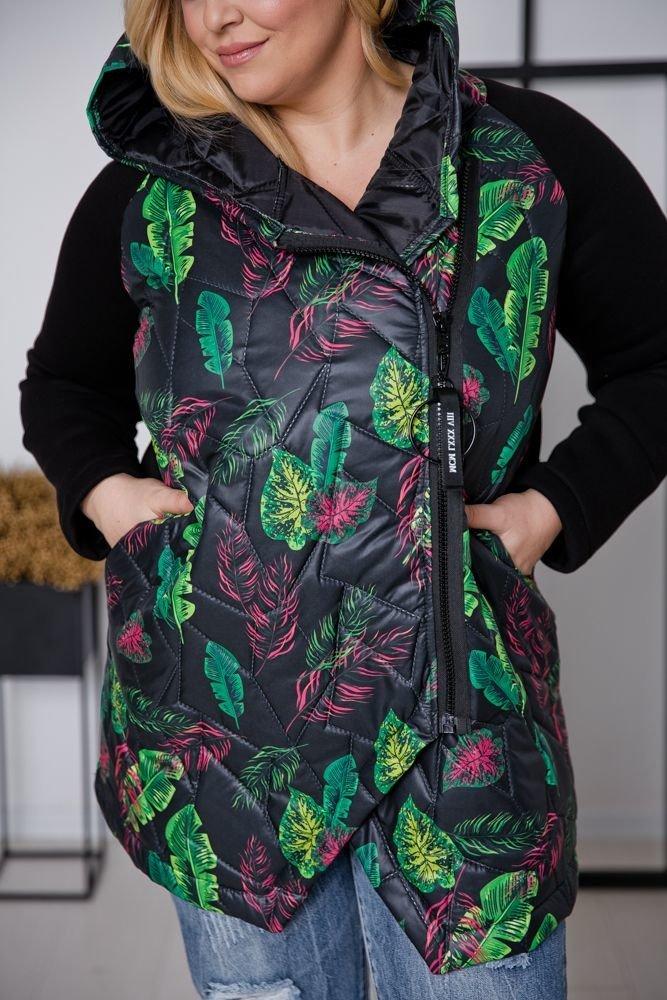 Czarno-zielona Kurtka PACKO Plus Size