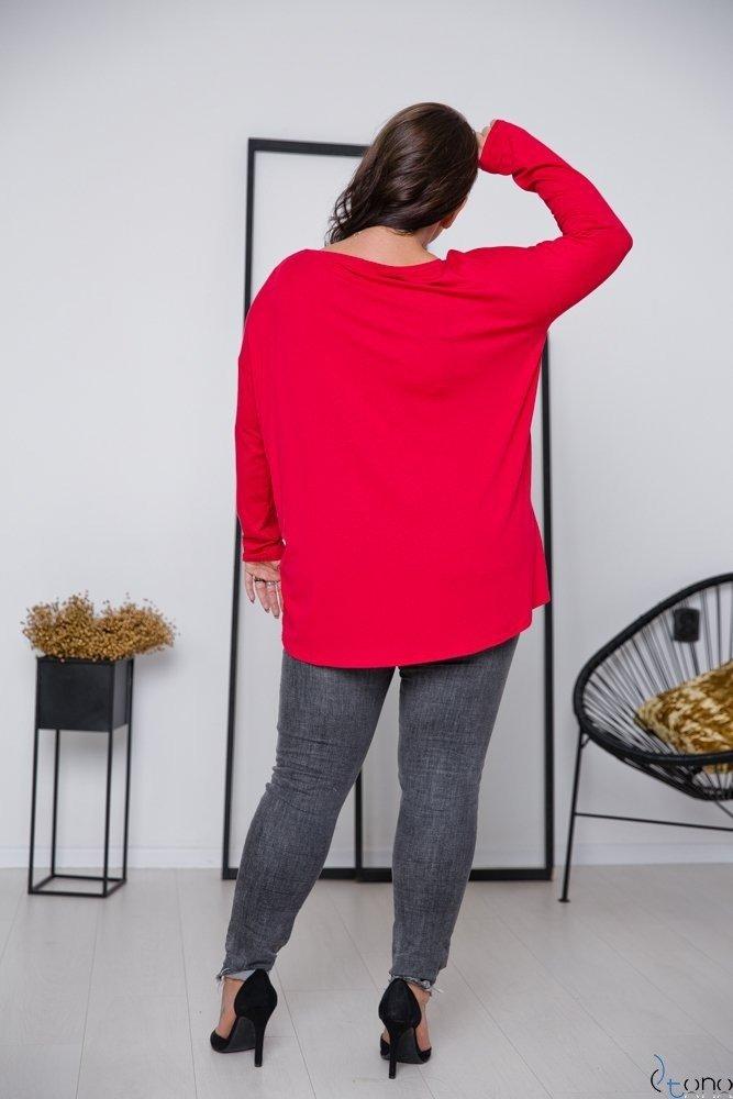 Czerwona Bluzka POCKET Plus Size