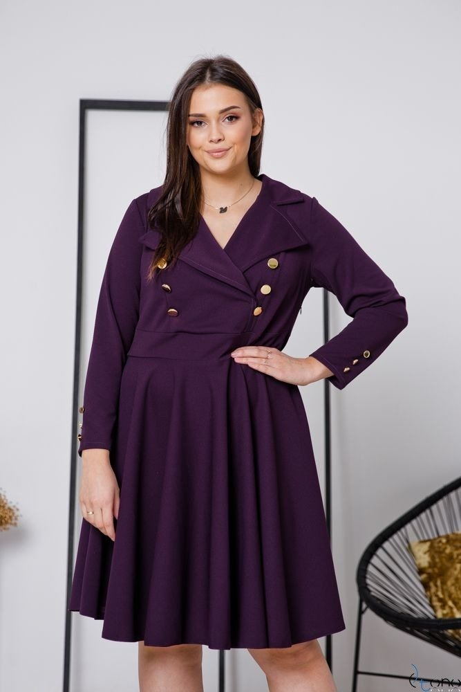 Fioletowa Sukienka RECIFE Plus Size