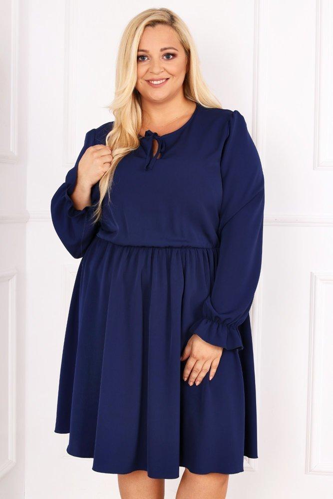 Granatowa Sukienka LUKIA Plus Size