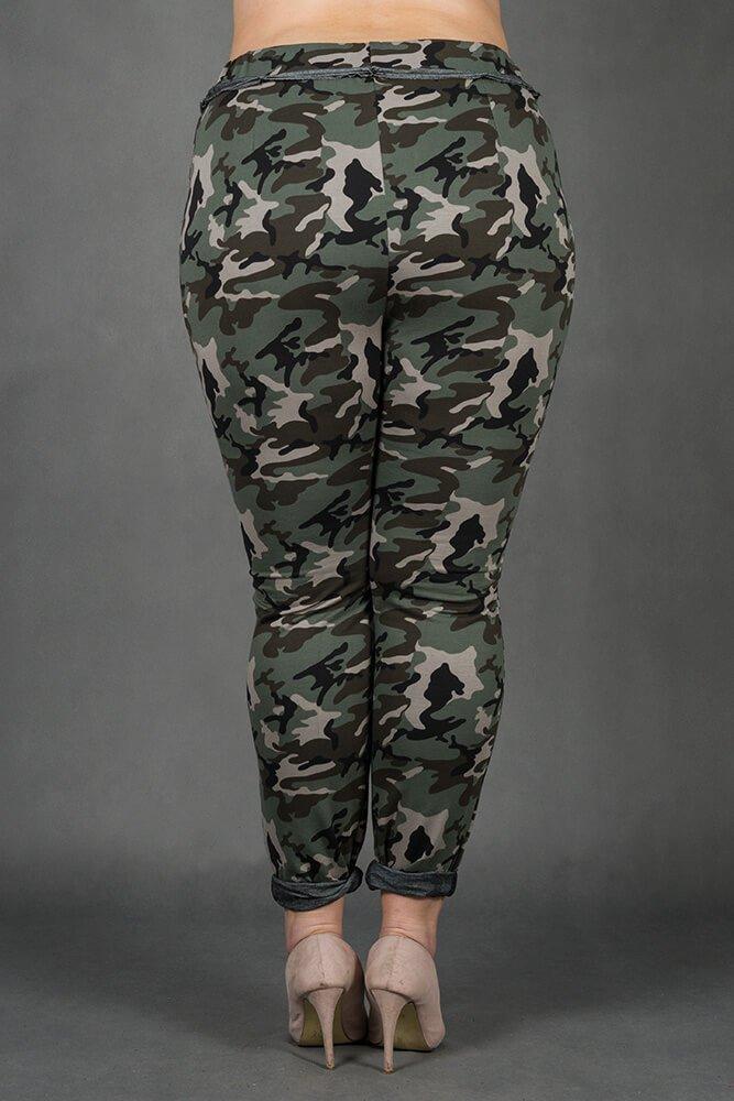 Spodnie MAGGIO Dresowe Moro Plus Size