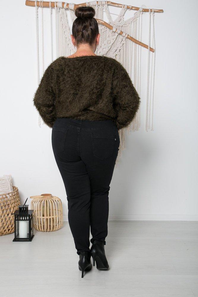 Spodnie jeansowe czarne TORNI Plus Size