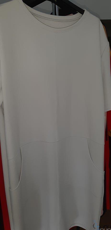 Szara sukienka CASTODIA Plus Size
