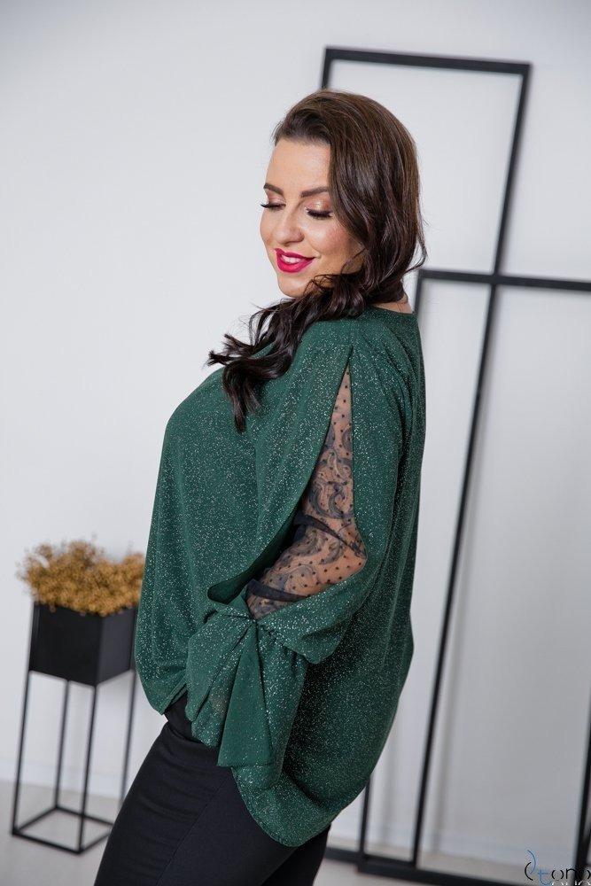 Zielona Bluzka MOKKIA Plus Size