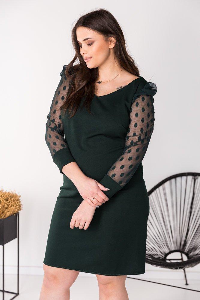 Zielona Sukienka KASALIA Plus Szie