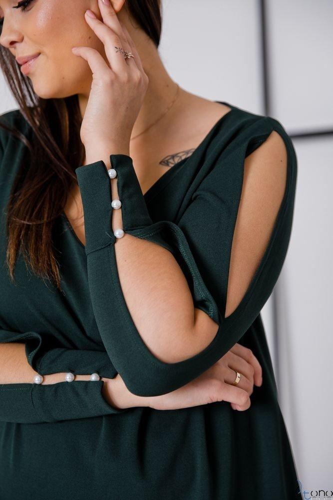 Zielona Sukienka NADALL Plus Size